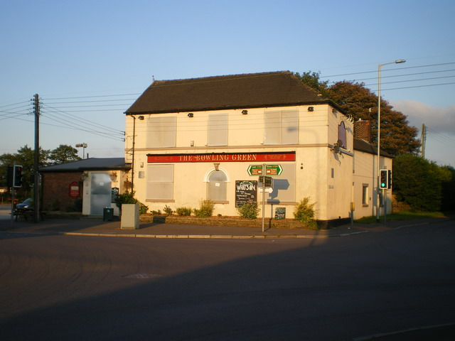 The Bowling Green pub - closed down