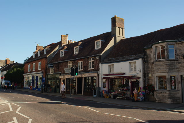 Shops in South Street, Wareham, Dorset