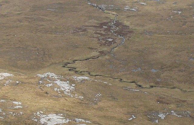Burn east of   An Lèan-Chàrn