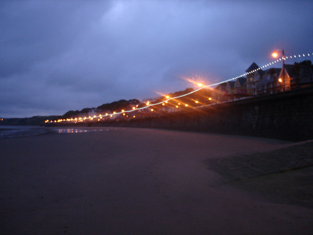 Filey promenade at dusk