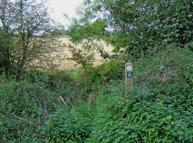 Start of public footpath to Hightrees Farm