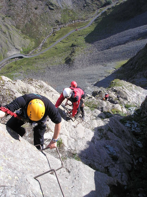 The Via Ferratta Route on Honister Crag