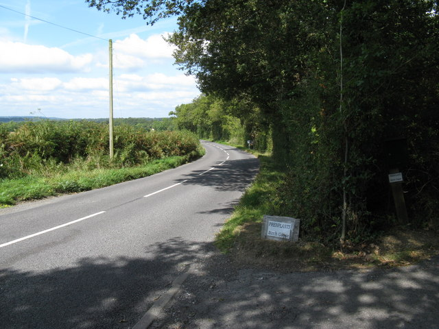 Looking north on Haven Road