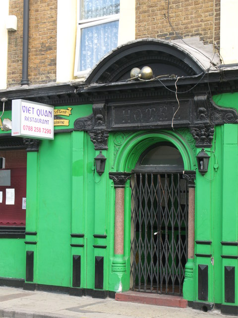 Entrance of the Viet Quan Restaurant, Edward Street, SE8