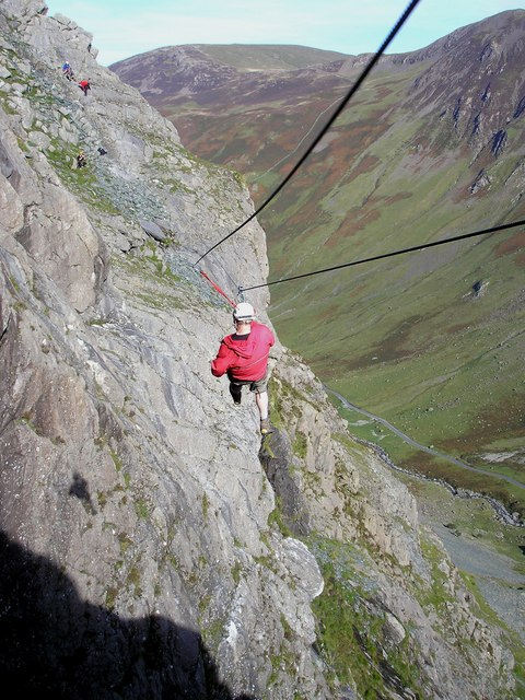 The Zip Wire on Honister Crag