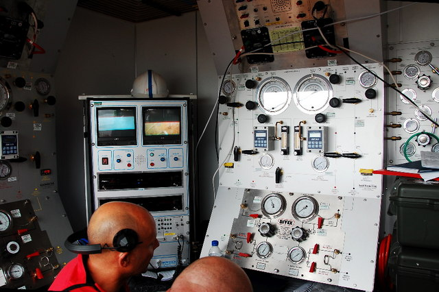Diving control room
