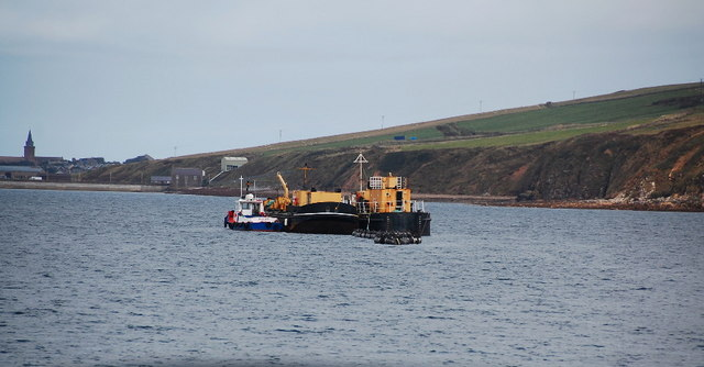 Barges and tug, Scapa Bay