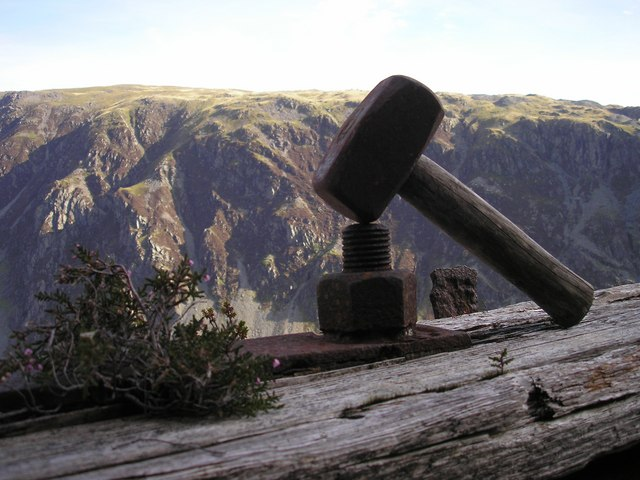 Old Hammer Found on Honister Crag