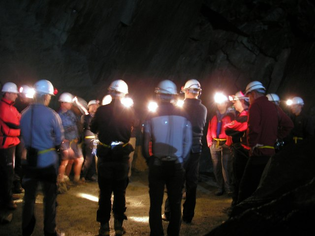Inside the Honister Slate Mine