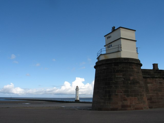 Lighthouse and Fort at New Brighton