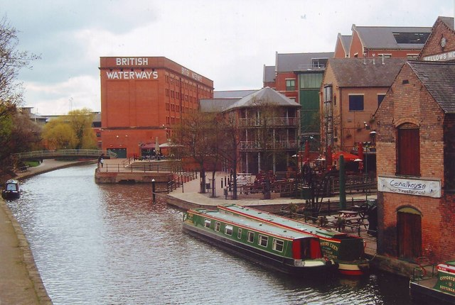 Canal wharf in Nottingham