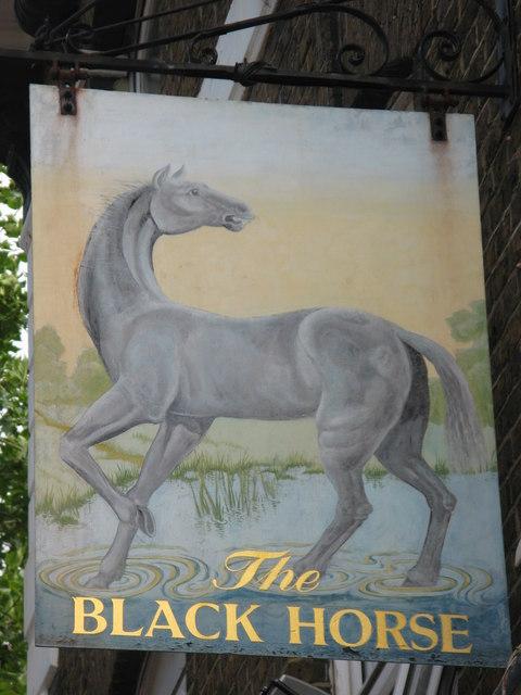 Sign for The Black Horse, Evelyn Street, SE8
