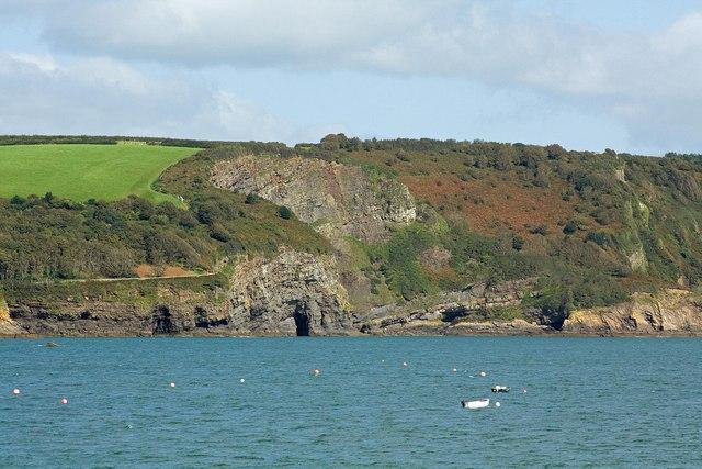 Cliffs near Waterwynch, Tenby