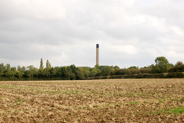 View northeast on farmland between Southam and Long Itchington