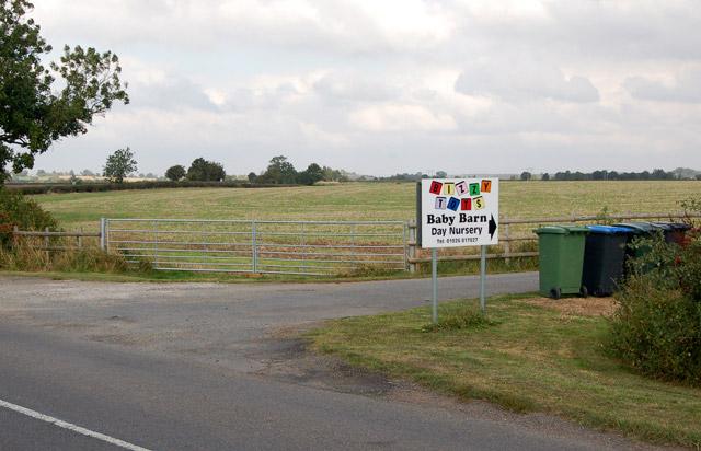 'The Baby Barn' children's nursery entrance