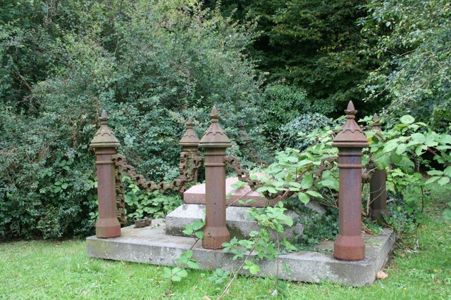 Cast posts on the grave