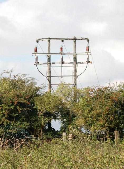 Electricity transmission poles near Model Village