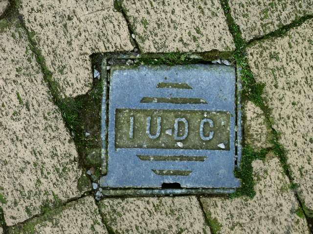 Inspection Cover bearing the letters IUDC