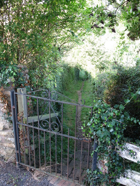 Footpath from West Buckland Church