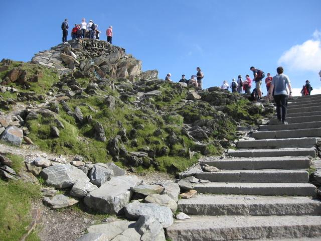 Yr Wyddfa summit and the new steps