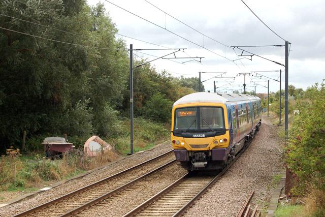 Train arriving at Littleport