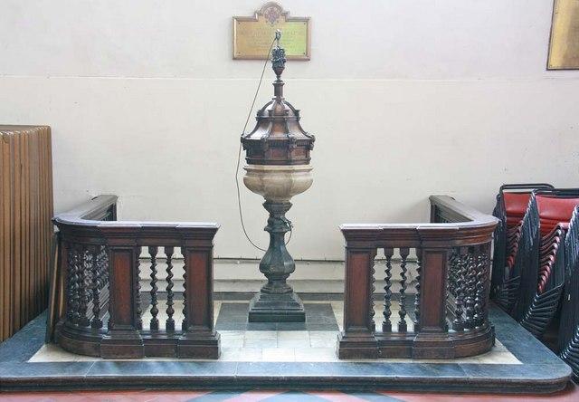 St Andrew Undershaft, St Mary Axe, EC2 - Font