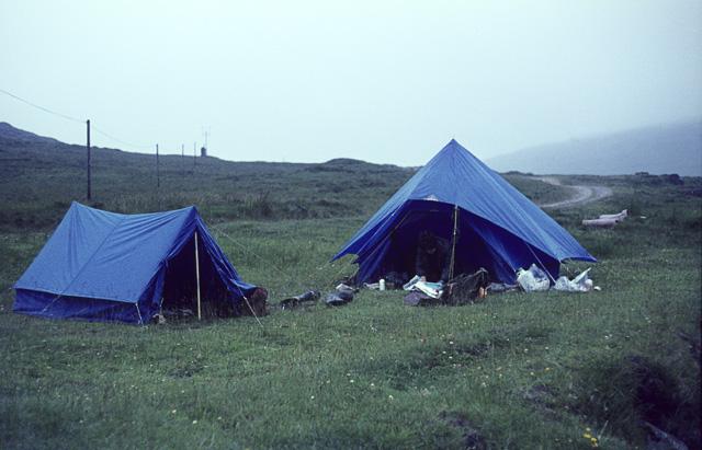 Riverside Campsite, Kinloch Valley, Rum