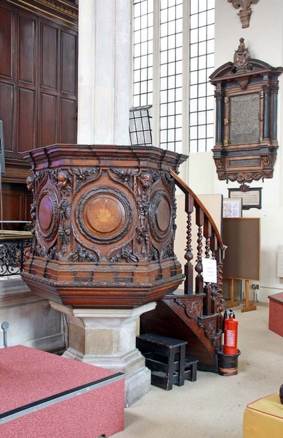 St Andrew Undershaft, St Mary Axe, EC2 - Pulpit