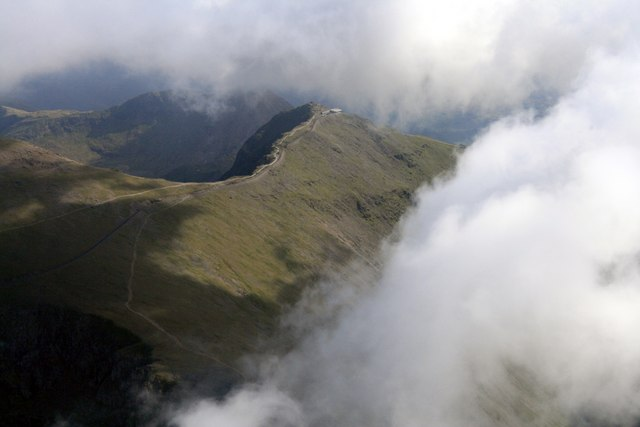 Snowdon through the Clouds