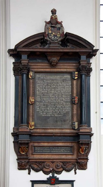 St Andrew Undershaft, St Mary Axe, EC2 - Wall monument