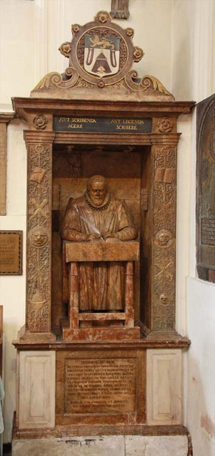 St Andrew Undershaft, St Mary Axe, EC2 - Wall monument of John Stow