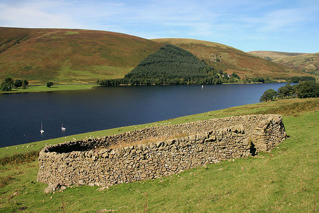 A sheepfold by St Mary's Loch