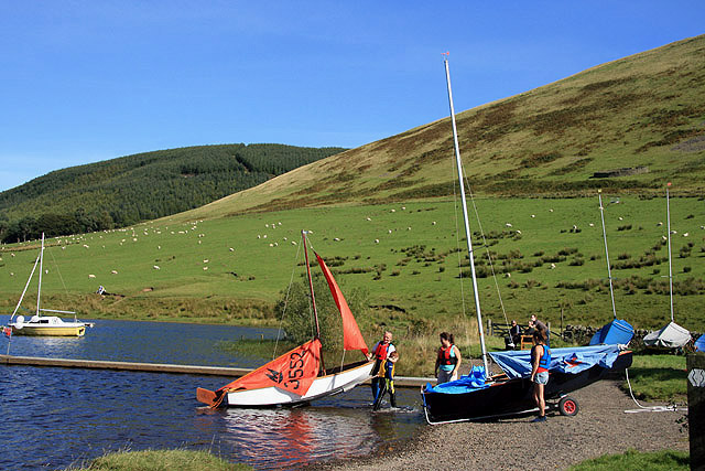Yachts at St Mary's Loch