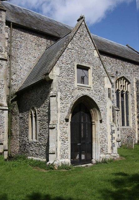 All Saints, Snetterton, Norfolk - Porch