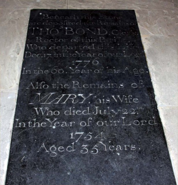 St Peter, Little Ellingham, Norfolk - Ledger slab