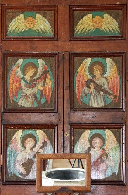 St Peter, Carleton St Peter, Norfolk - Organ case detail