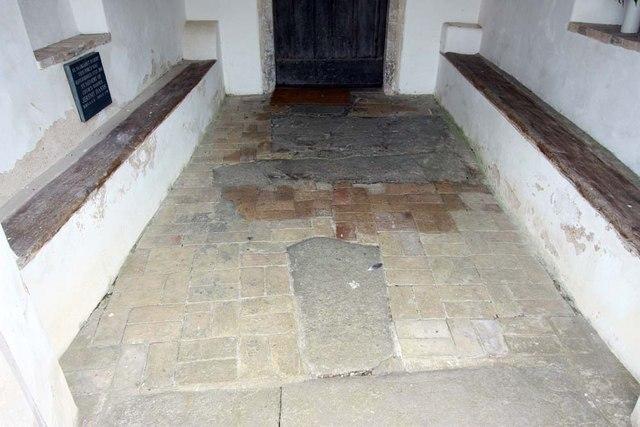 St Margaret, Hardley Street, Norfolk - Porch floor