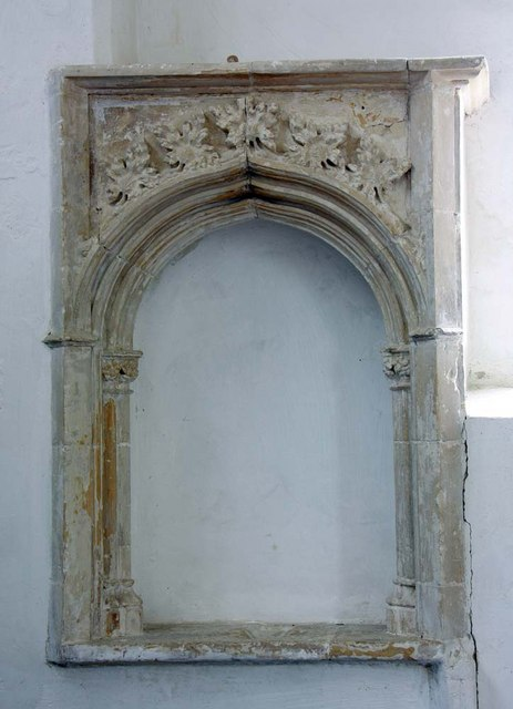 St Margaret, Hardley Street, Norfolk - Piscina