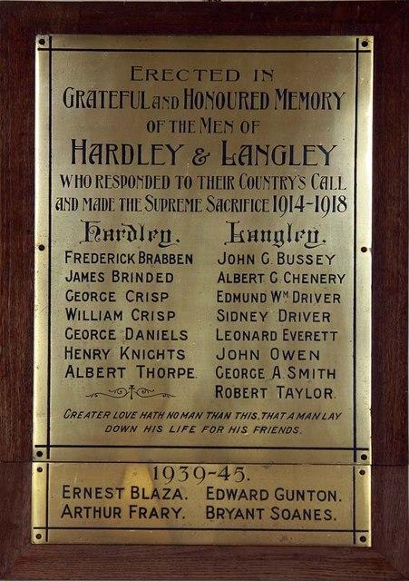St Margaret, Hardley Street, Norfolk - Memorial WWI & WWII