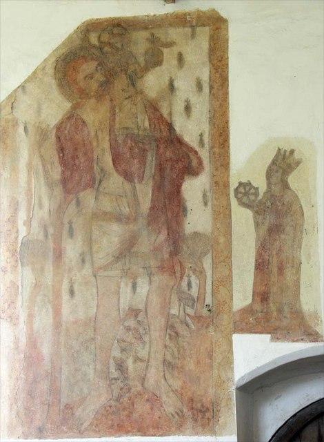 St Margaret, Hardley Street, Norfolk - Wall painting