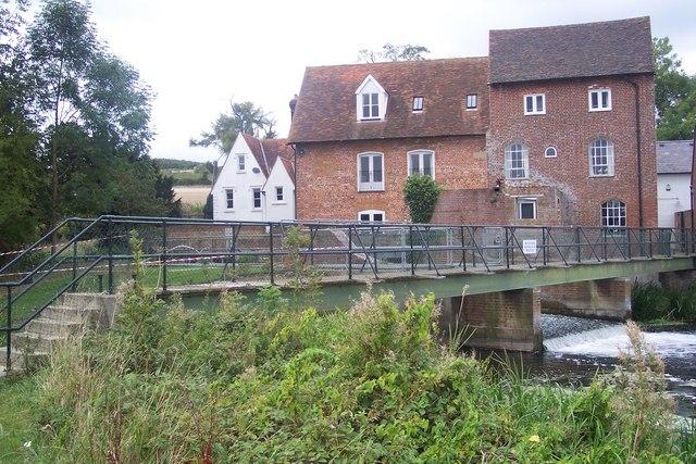 Chartham Corn Mill and Weir footbridge
