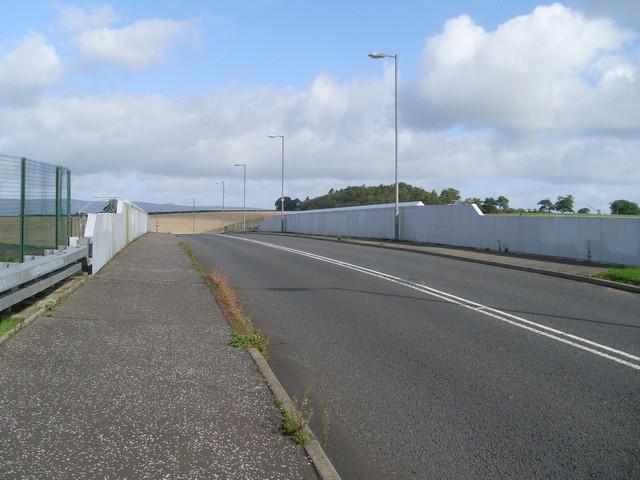 Road bridge across the railway
