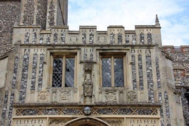 Holy Trinity, Loddon, Norfolk - Porch detail