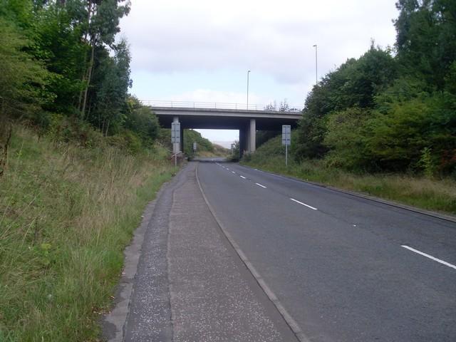 The M80 crosses Lenzie Road