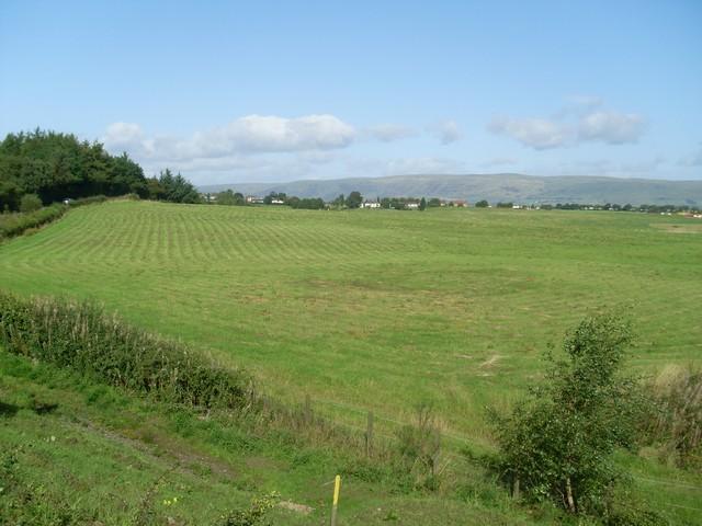 Fields by the B757