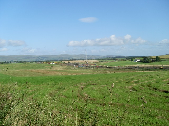 Construction of new A road near Broomknowes Farm
