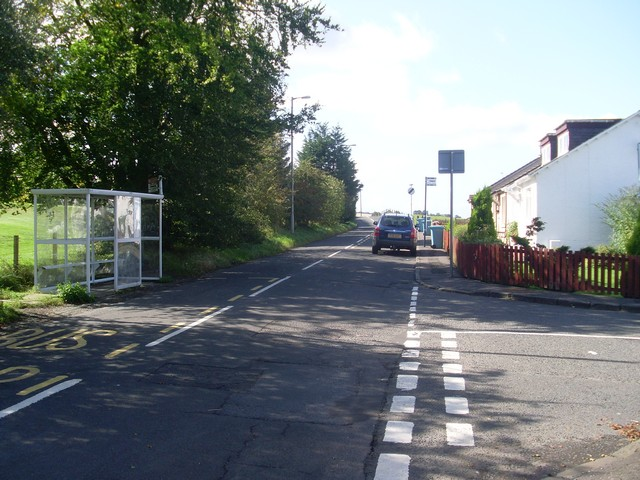 Leaving Auchinloch on Langmuirhead Road