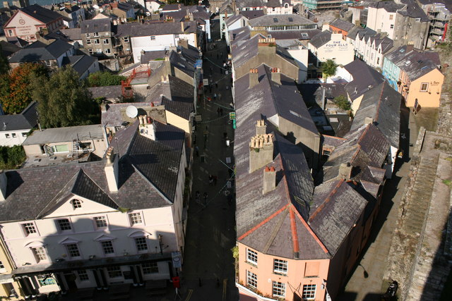 View of Caernarfon from the castle