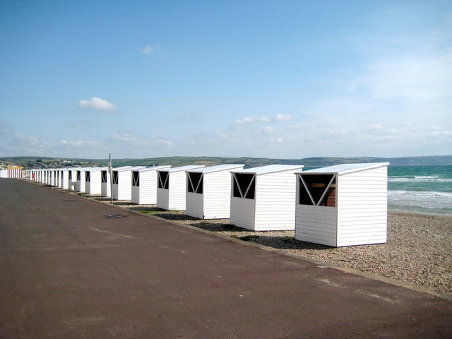 Beach huts near Brunswick Terrace - Weymouth