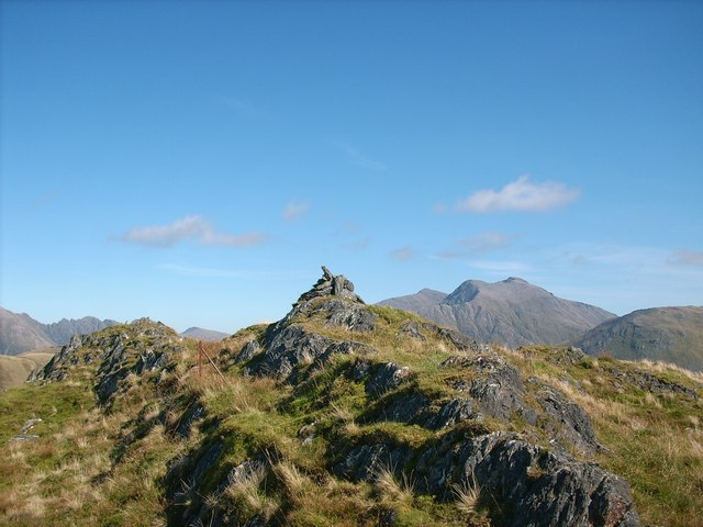 The summit cairn of Sgorr a' Choise